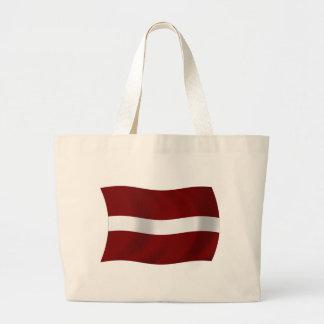 Lettland-Flaggen-Taschen-Tasche Jumbo Stoffbeutel