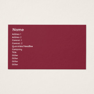 Lettland - Geschäft Visitenkarte