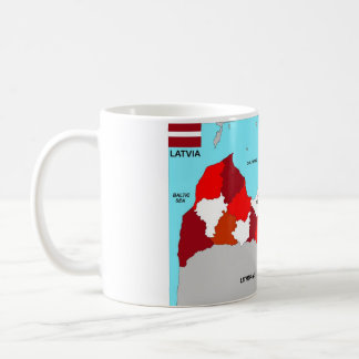 Lettland-Kartenflagge Kaffeetasse