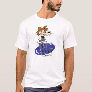 Letzter Anruf-Cartoons mit Logo und rotem Tucker T-Shirt