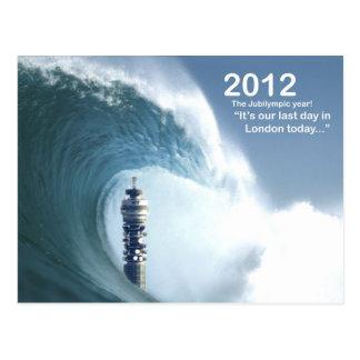 Letzter Tag in London - ein Tsunami versenkt Postkarte