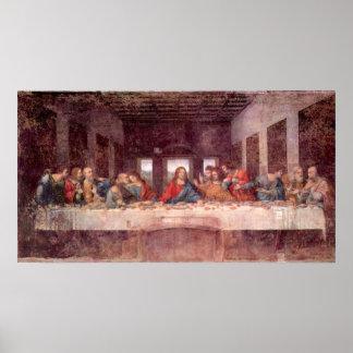 Letztes Abendessen durch Leonardo da Vinci Renais Plakat