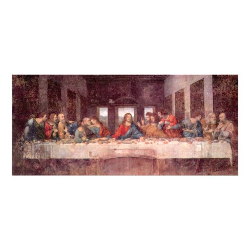 Letztes Abendessen durch Leonardo da Vinci, Renais Personalisierte Werbekarte