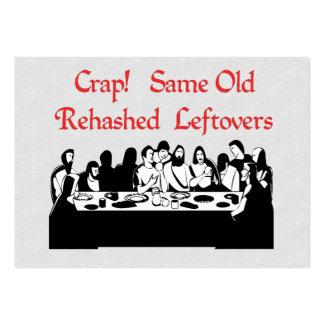 Letztes Abendessen-Reste Mini-Visitenkarten