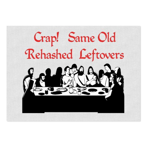 Letztes Abendessen-Reste Visitenkarten Vorlage