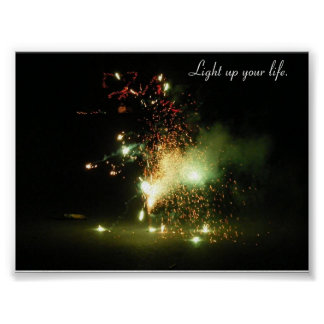 Leuchten Sie Ihrem Leben Plakate