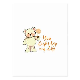 Leuchten Sie meinem Leben Postkarte