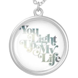 Leuchten Sie meiner Leben-Halskette Halskette Mit Rundem Anhänger
