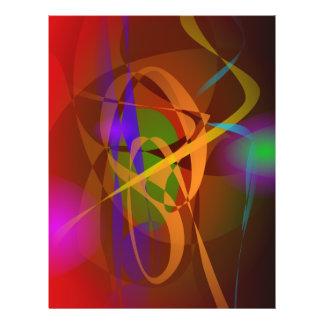 Leuchtende abstrakte Kunst Browns Digital Flyerdesign