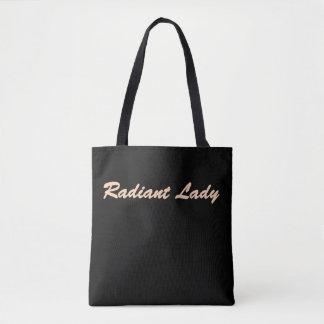 Leuchtende Dame Tote Bag Tasche