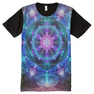 Leuchtende Energie-Blume ganz über Druck-Shirt T-Shirt Mit Komplett Bedruckbarer Vorderseite