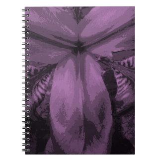 """""""Leuchtende Orchideen-"""" farbiges sibirisches Notizblock"""