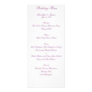 Leuchtende Orchideen-Hochzeits-Menü-Karten Bedruckte Werbekarte