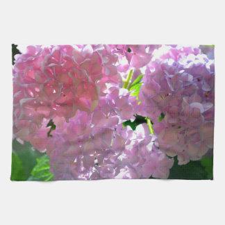Leuchtende rosa Hydrangeas Handtuch