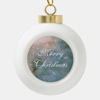 Leuchtender Carina-Nebelfleck Keramik Kugel-Ornament