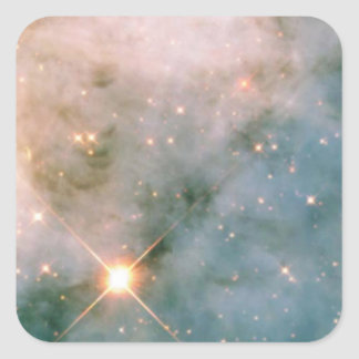 Leuchtender Carina-Nebelfleck Quadratischer Aufkleber