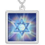 Leuchtender Davidsstern Amulett
