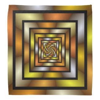 Leuchtender Tunnel-buntes grafisches Halstuch