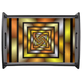 Leuchtender Tunnel-buntes grafisches Serviertablett
