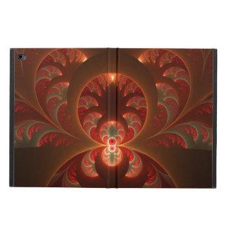 Leuchtendes abstraktes modernes orange Rot Fraktal