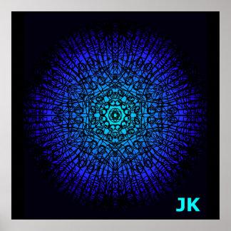 Leuchtendes Blau Poster