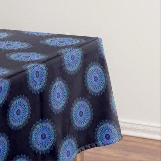 Leuchtendes blaues Mosaik-Kaleidoskop Tischdecke