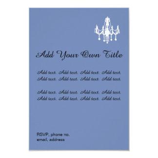 Leuchter-romantische einfache Hochzeits-Einladung Karte