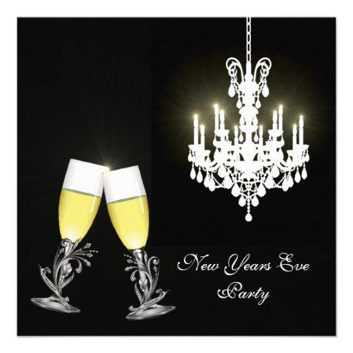 leuchter silvester party einladung quadratische 13 3 cm. Black Bedroom Furniture Sets. Home Design Ideas