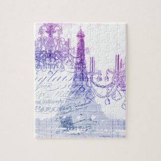 Leuchterparis Eiffel des Chic französischer lila Puzzle