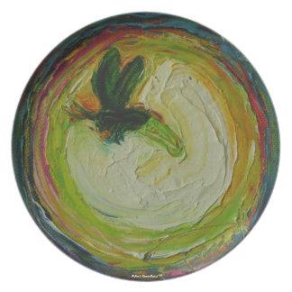 Leuchtkäfer-Platte Teller