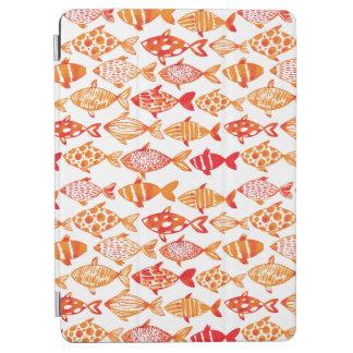 Leuchtorange-Aquarell-Fisch-Muster iPad Air Hülle