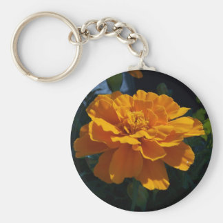 Leuchtorange-Ringelblume Schlüsselanhänger