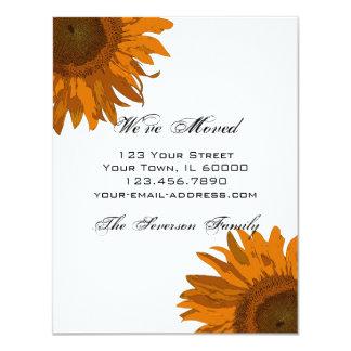 Leuchtorange-Sonnenblume-Adressenänderung 10,8 X 14 Cm Einladungskarte