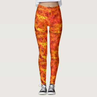Leuchtorangefarben-Sonneherbst Leggings