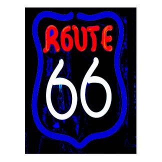 Leuchtreklame des Weg-66 von Berwyn IL Postkarte