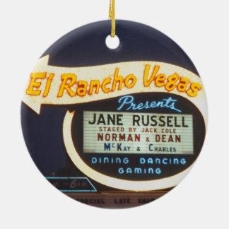 Leuchtreklame-Las Vegas-Kasino 1959 EL Rancho Keramik Ornament