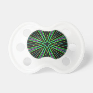 Leuchtstoff grüne Lavendel-Stern-Neonexplosion Schnuller