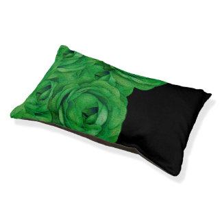 Leuchtstoff grüne Rosen Haustierbett