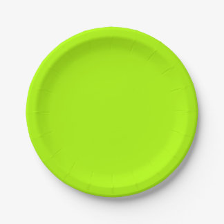 Leuchtstoff grüner Normallack Pappteller