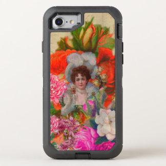 Leuchtstoff Vintage Frauen-Blumen-Collage OtterBox Defender iPhone 8/7 Hülle