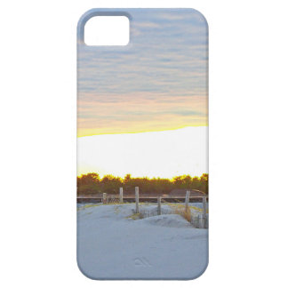 Leuchtturm am Sonnenuntergang iPhone 5 Etui