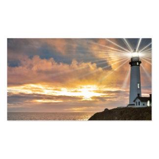 Leuchtturm am Sonnenuntergang Visitenkarten