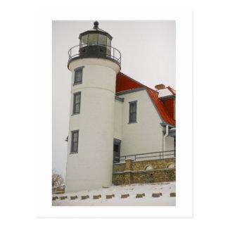 Leuchtturm auf Michigansee-Postkarte Postkarte