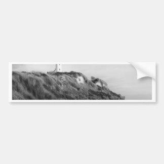 Leuchtturm auf Strand Autoaufkleber