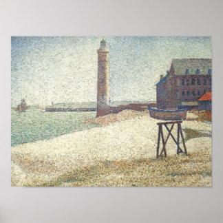 Leuchtturm bei Honfleur Poster