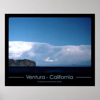Leuchtturm bei Ventura, Kalifornien Poster