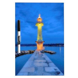 Leuchtturm beim Paquis, Genf, die Schweiz Memoboard
