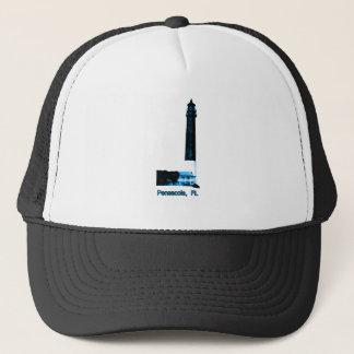 Leuchtturm-Blau Pensacola FL das MUSEUM Zazzle GIF Truckerkappe