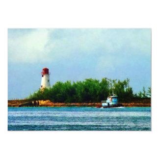 Leuchtturm, Boot Nassau Bahamas Karte