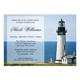 Leuchtturm-Brautparty-Einladungen